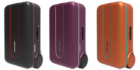 Suitcase, Magenta, Material property, Technology, Electronic device, Hand luggage, Baggage,