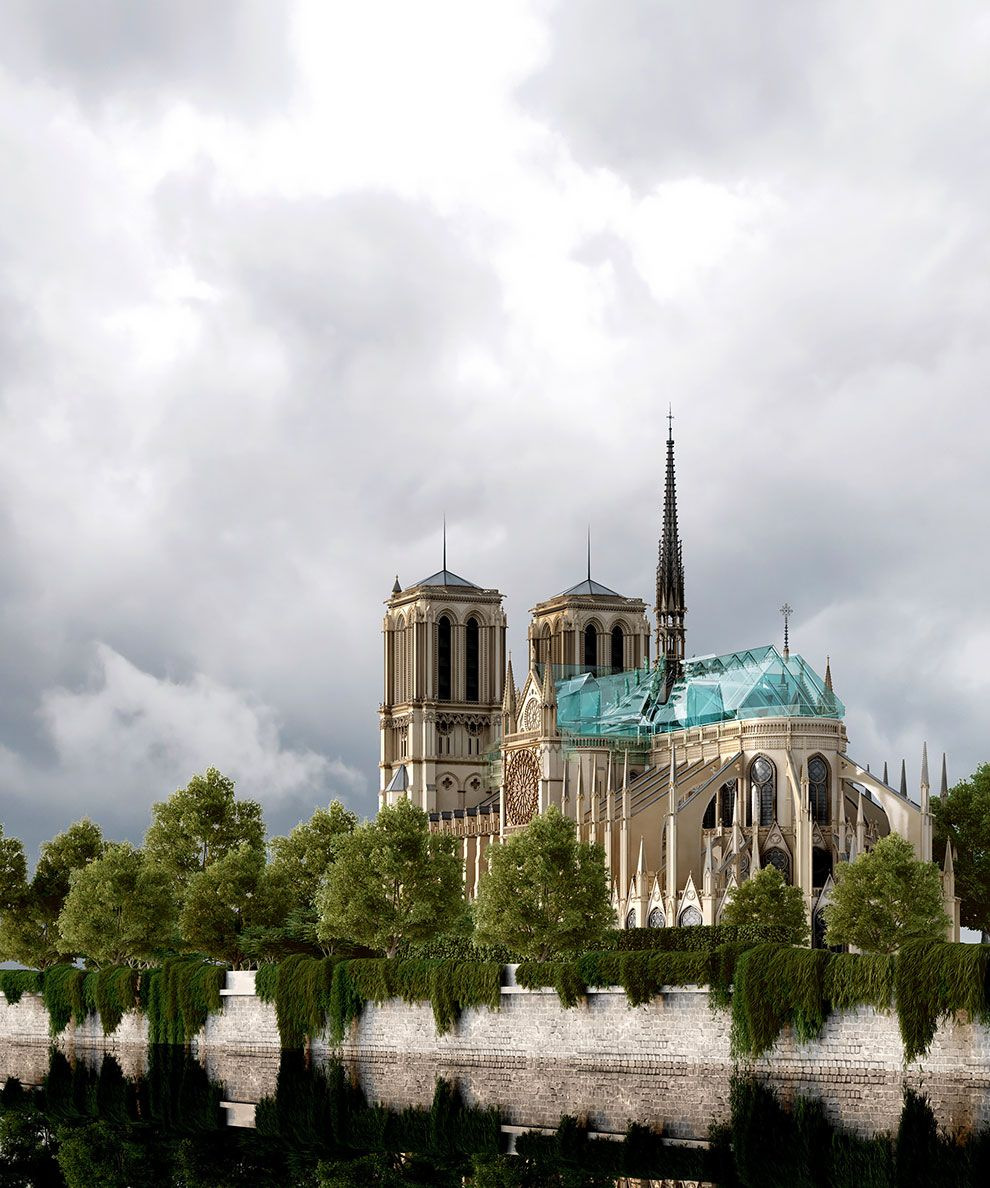 Architect Responds to Controversy Over His Proposal to Top Notre-Dame with a Glass Roof