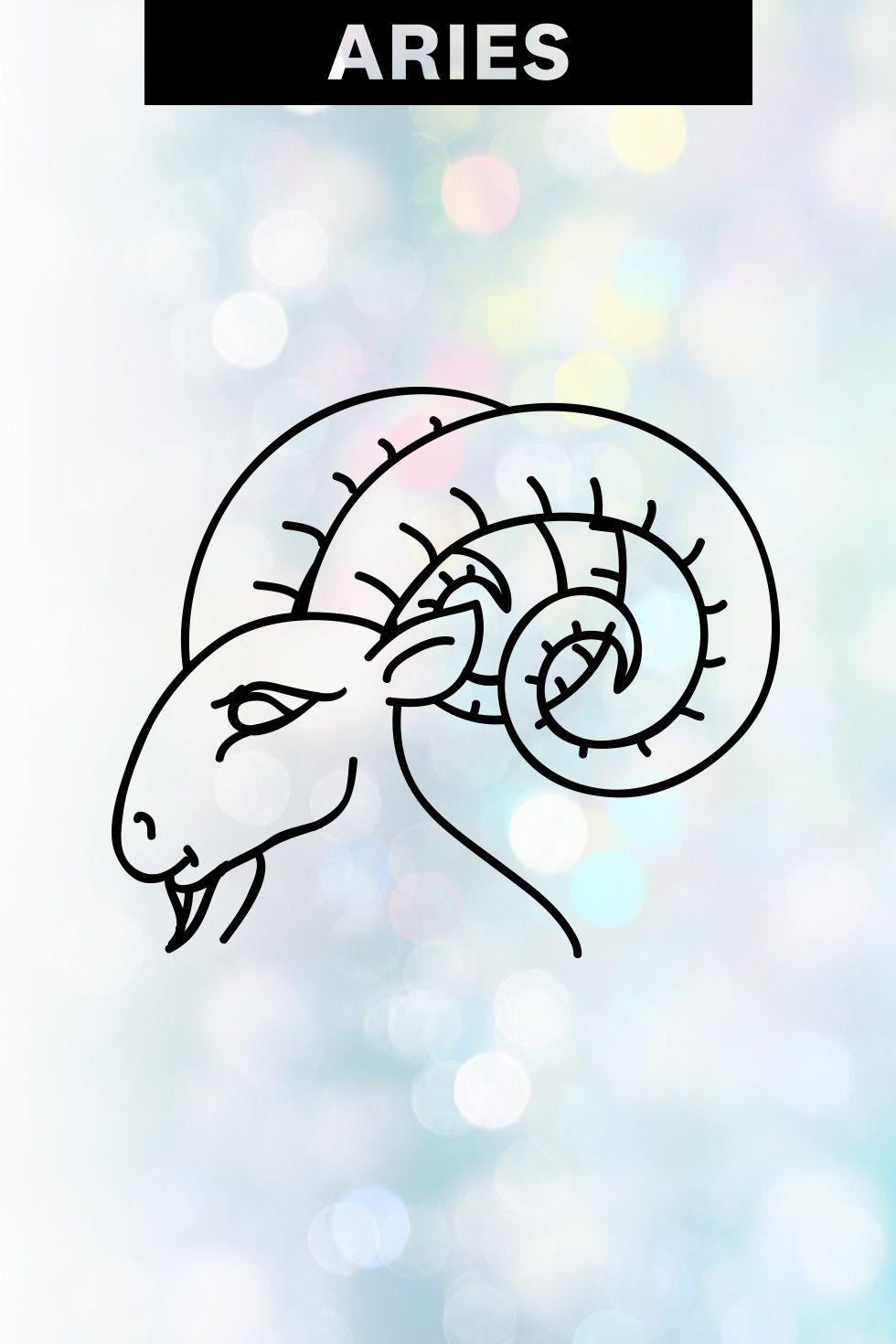 Aries zodiac horoscope symbol