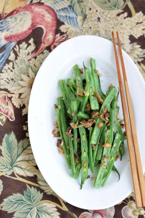 さやいんげんの海老塩ザーサイ炒め のレシピ・作り方|ELLE gourmet [エル・グルメ]