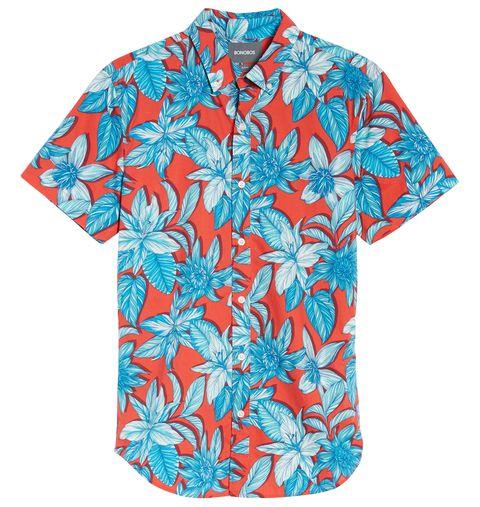 Clothing, Sleeve, Blue, Aqua, Turquoise, T-shirt, Top, Active shirt, Hibiscus, Plant,