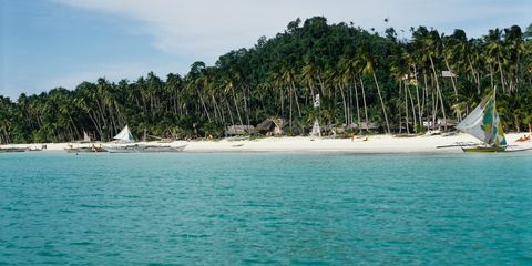 Beach of Borocay Island, Philippines
