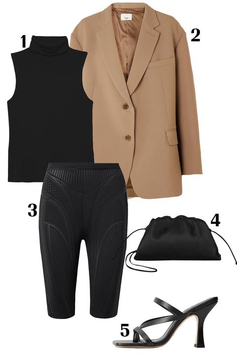 Clothing, Black, White, Suit, Formal wear, Outerwear, Footwear, Blazer, Jacket, Beige,