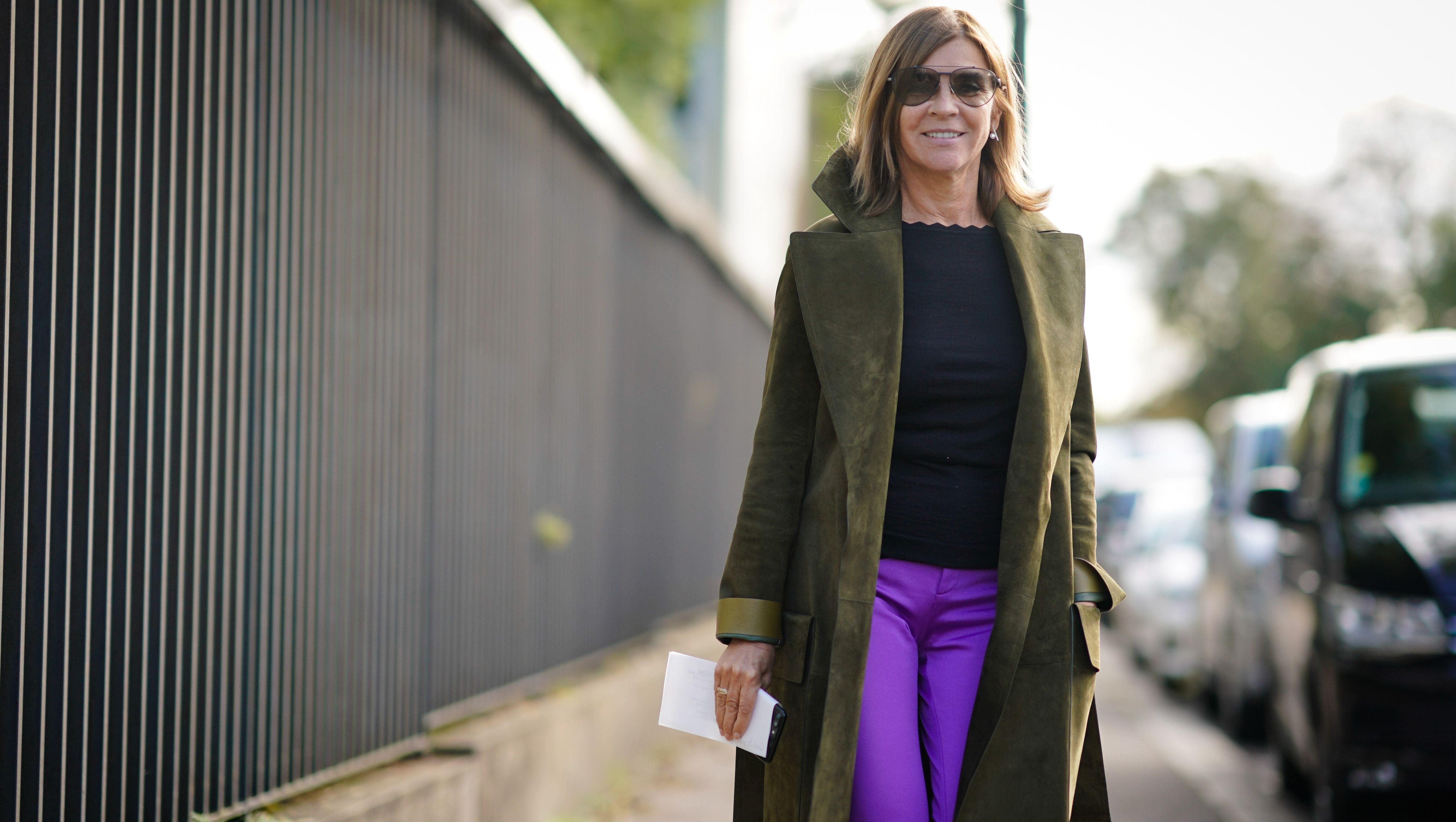 Carine Roitfeld street style coat