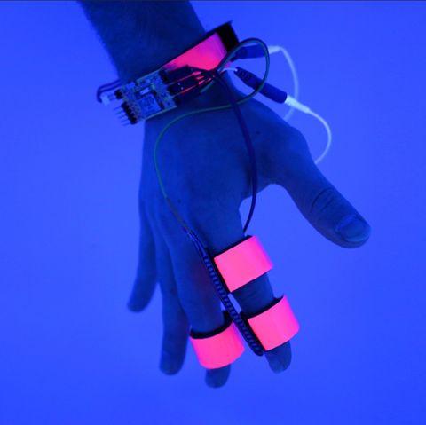 Cobalt blue, Electric blue, Blue, Violet, Magenta, Glove,