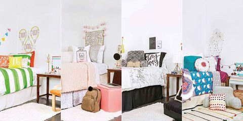1 dormitorio juvenil decorado con 4 colores y estilos diferentes