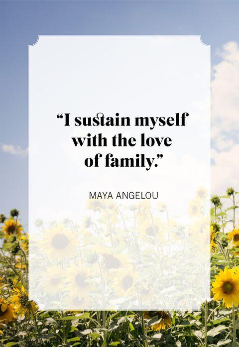 family quotes maya angelou