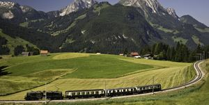Swiss train trip