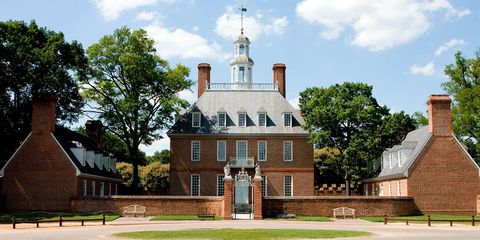 the governors palace in colonial williamsburg virginia