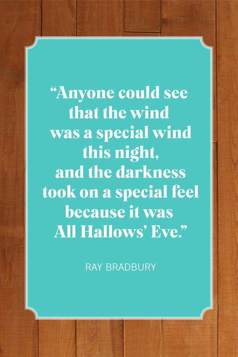 halloween quotes ray bradbury