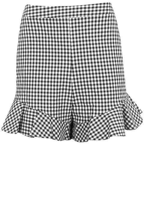 Pattern, Textile, Shorts, Plaid, Black-and-white, Tartan, Pocket, Trunks, Undergarment, Pattern,