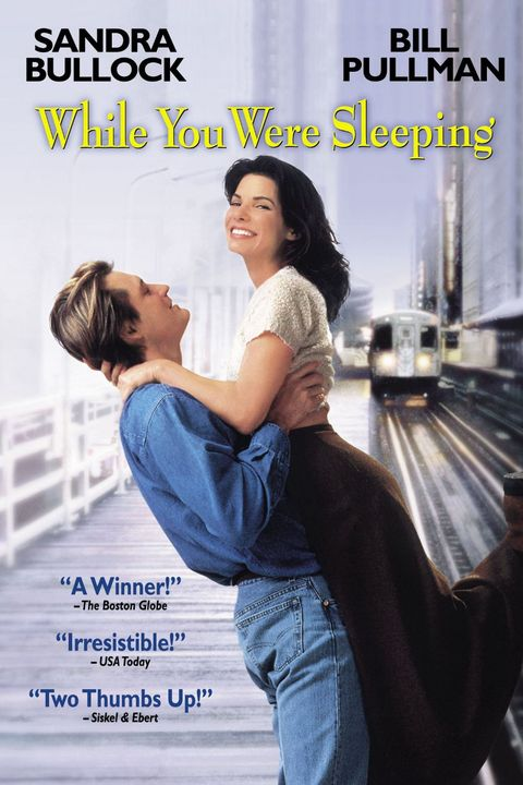 while you were sleeping 1995 movie poster