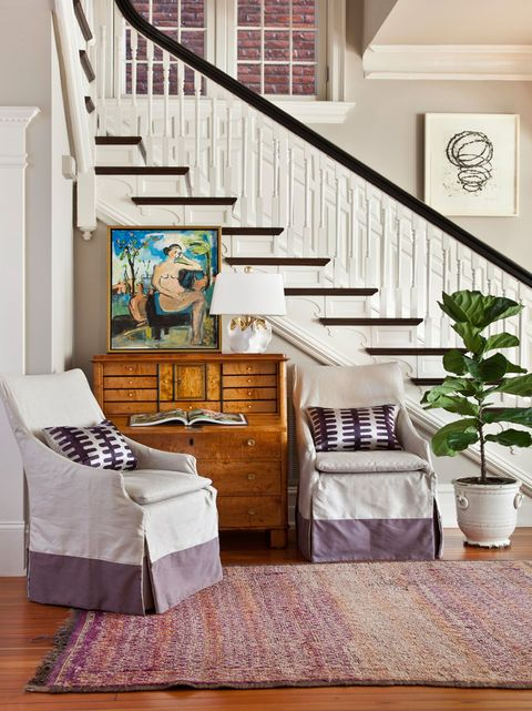 Room, Stairs, Interior design, Living room, Furniture, Property, Floor, Home, Wall, House,