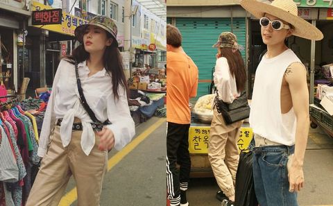 People, Street fashion, Jeans, Yellow, Fashion, Cool, Eyewear, Snapshot, Sunglasses, Street,