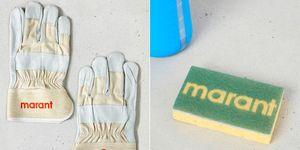 Isabel Marant, keukensponsjes, badmutsen, logo a go-go