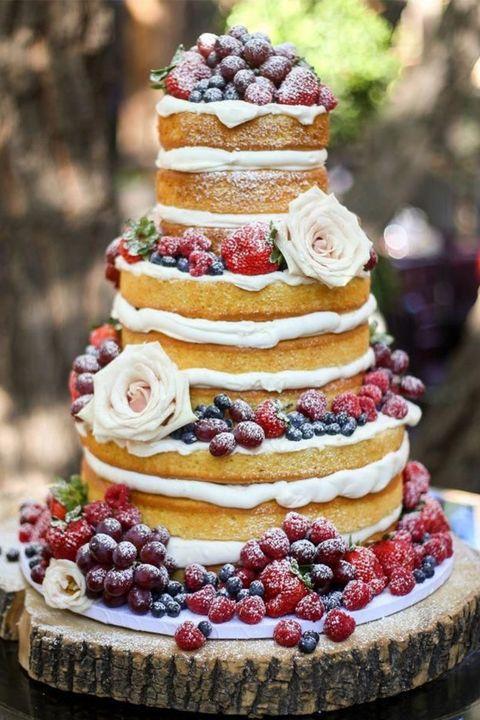 ウエディングケーキ アイデア 結婚式 ウエディング ネイキッドケーキ ケーキ おしゃれ トレンド