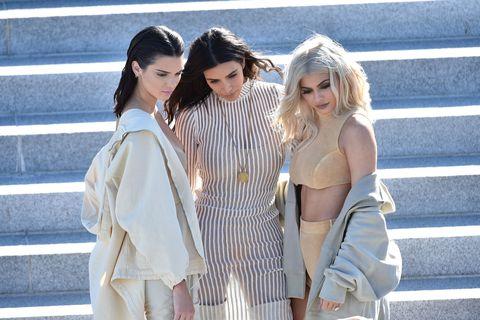 Kendall Jenner Kim Kardashian Kylie Jenner Yeezy