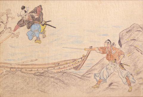 横尾忠則 武蔵と小次郎 1941年