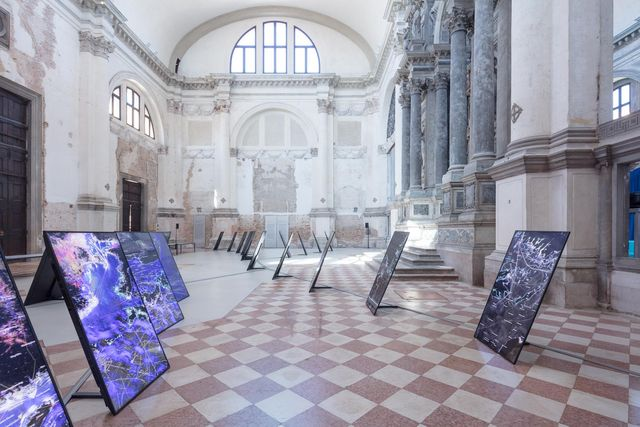 territorial agency oceans in transformation, veduta della mostra, ocean space, venezia, 2021