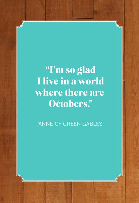 anne green gables october quotes