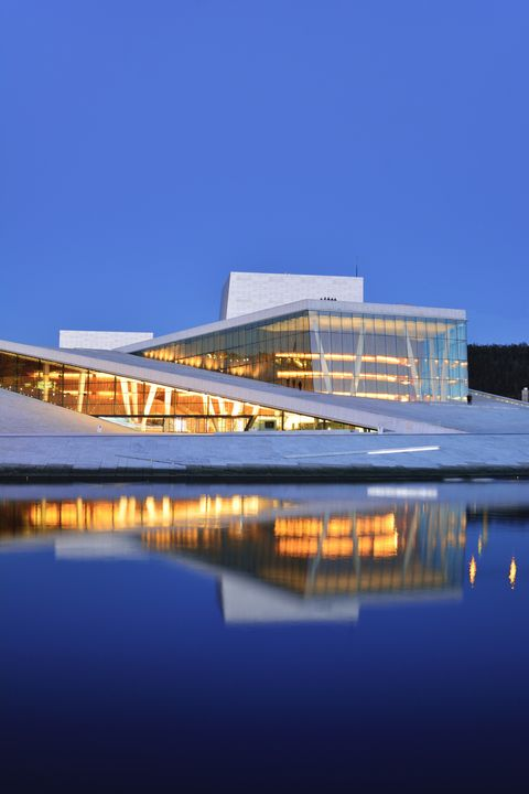 Norway, Oslo, Norwegian National Opera and Ballet in Bjorvika district