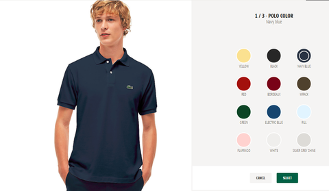 cedc62102a155f Lacoste Launches Polo Shirt Customization Service - How To Get ...
