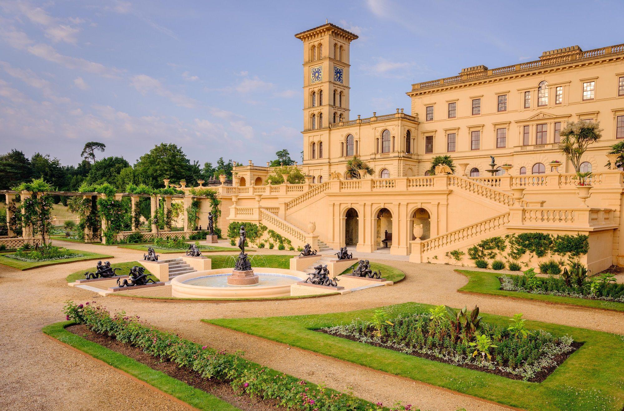 I giardini di Osborne House sono il luogo dove si innamorarono la regina  Vittoria e il principe Alberto