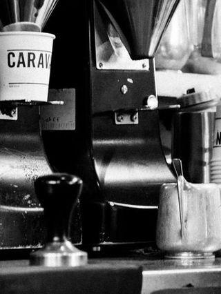 Small appliance, Photography, Black-and-white, Machine, Espresso machine,