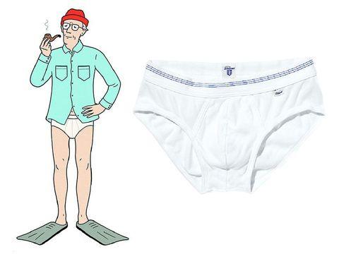 Underpants, Clothing, Briefs, Undergarment, Cartoon, Swimsuit bottom, Leg, Shorts, Illustration, Swim brief,