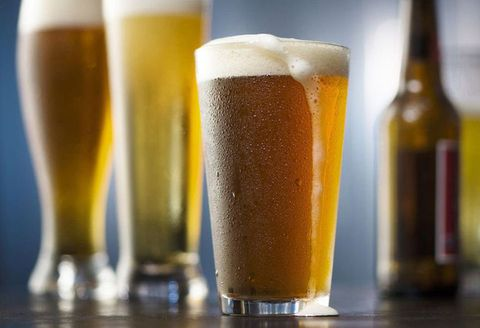 Beer glass, Drink, Beer, Pint glass, Alcoholic beverage, Wheat beer, Lager, Pint, Distilled beverage, Beer cocktail,