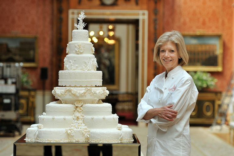 Fiona Cairns With Royal Wedding Cake