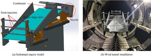 concept demonstration model of the sodramjet engine and its installation in jf 12 shock tunnel
