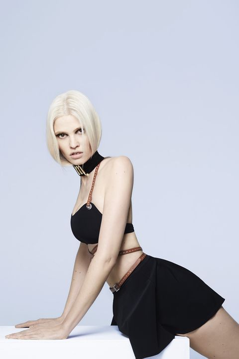 Hair, White, Blond, Black, Clothing, Leg, Shoulder, Skin, Beauty, Model,