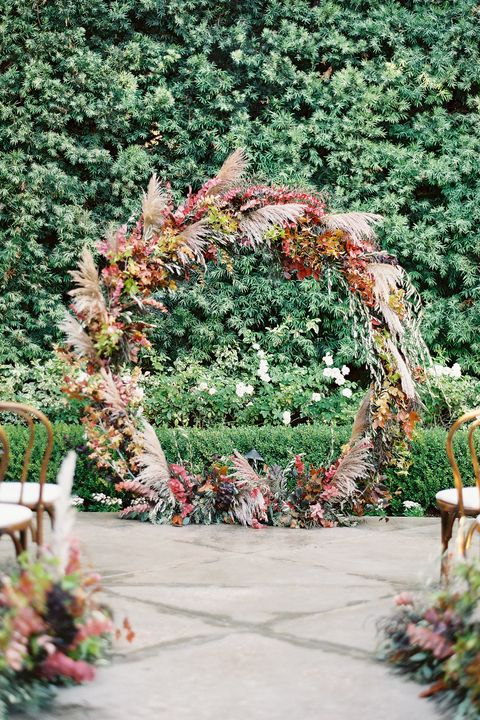 Arch, Architecture, Tree, Floral design, Plant, Botany, Garden, Ceremony, Grass, Spring,