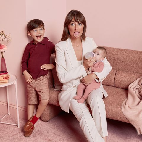 Photograph, People, Pink, Fashion, Leg, Sitting, Room, Photography, Child, Family,