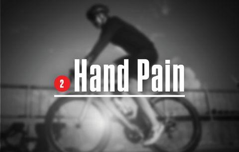 cyclist hand pain