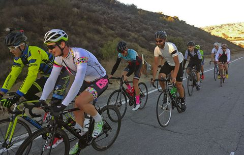 cyclists riding in california