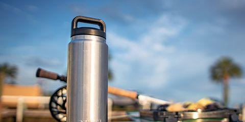 Vacuum flask, Water bottle, Cylinder, Drinkware, Bottle, Metal,