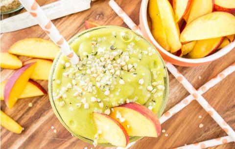 Energizing Peach Green Tea Smoothie
