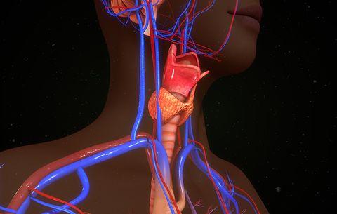 Underactive thyroid, dry skin