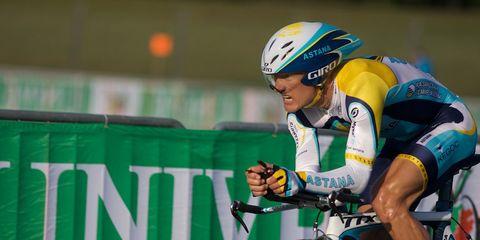 Alexander Vinokourov during a race