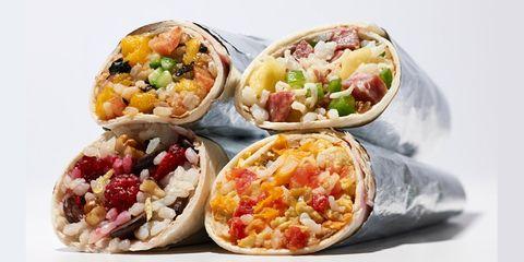 Four burritos