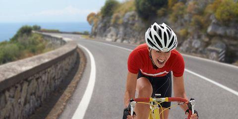 cyclist road