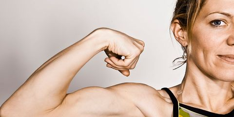woman strong muscles