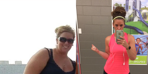 Kellie Brotherton before and after weight loss