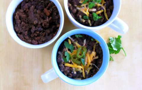 Lentil and black bean chili in the instant pot