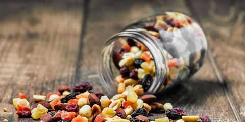 fruit and nuts with gluten