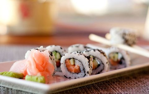 sushi with gluten