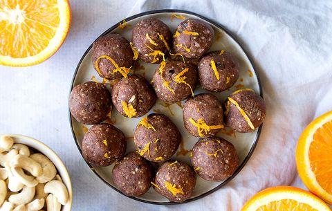 chocolate orange bliss balls
