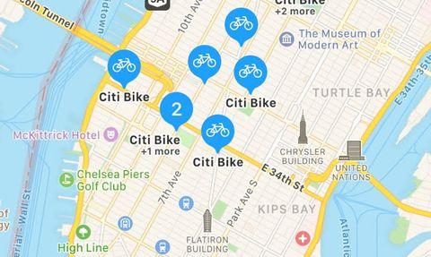 apple maps bike share nyc